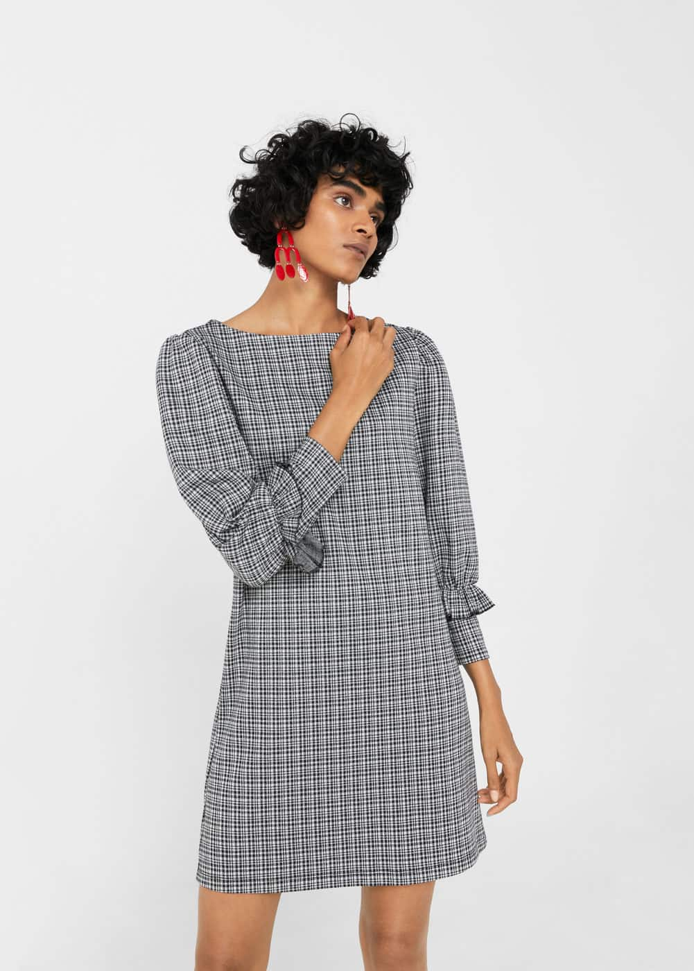 Checked flannel dress | MANGO