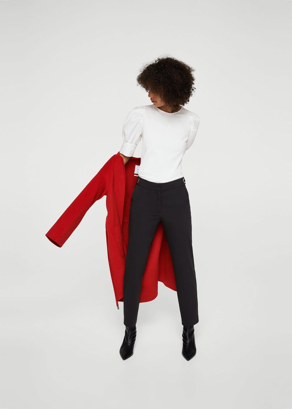 Rings straight trousers | MANGO