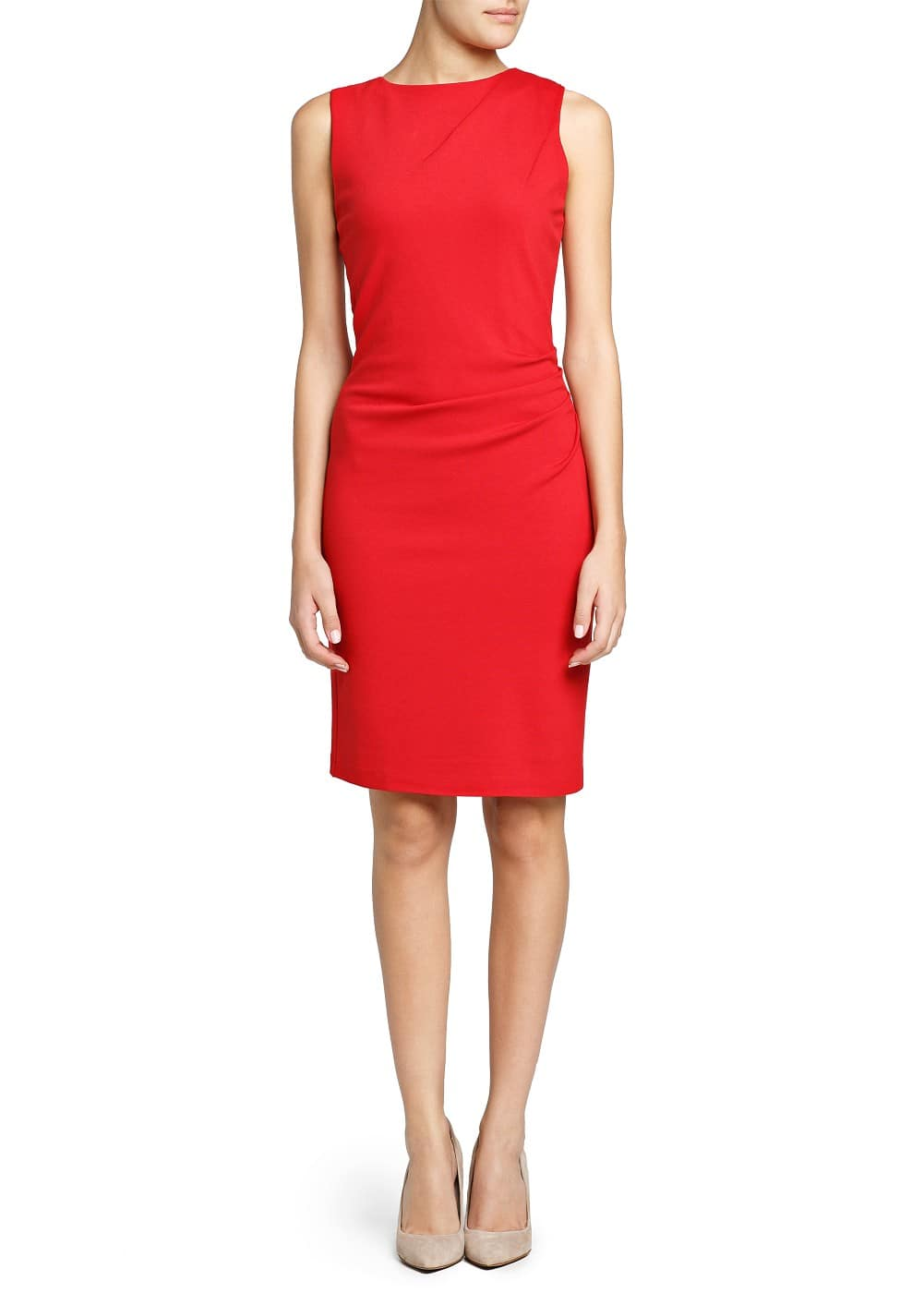 Ruched detail pencil dress | MANGO