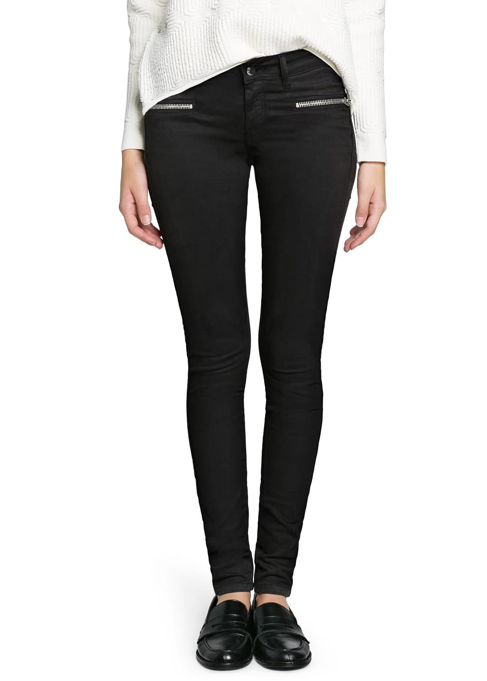 Super slim-fit black blanche jeans | MANGO
