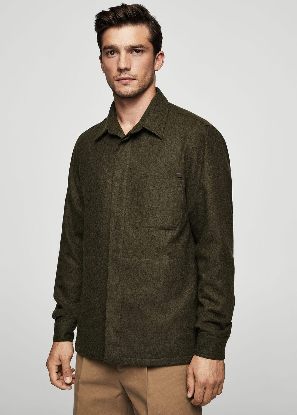 Recycled wool-blend overshirt | MANGO