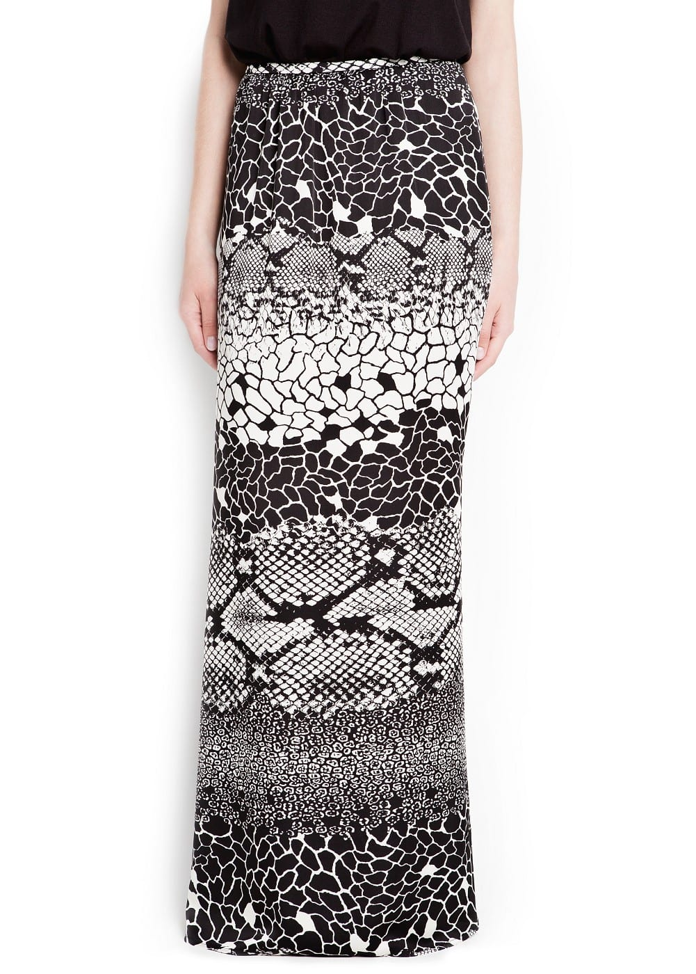 Snake print long skirt | MANGO