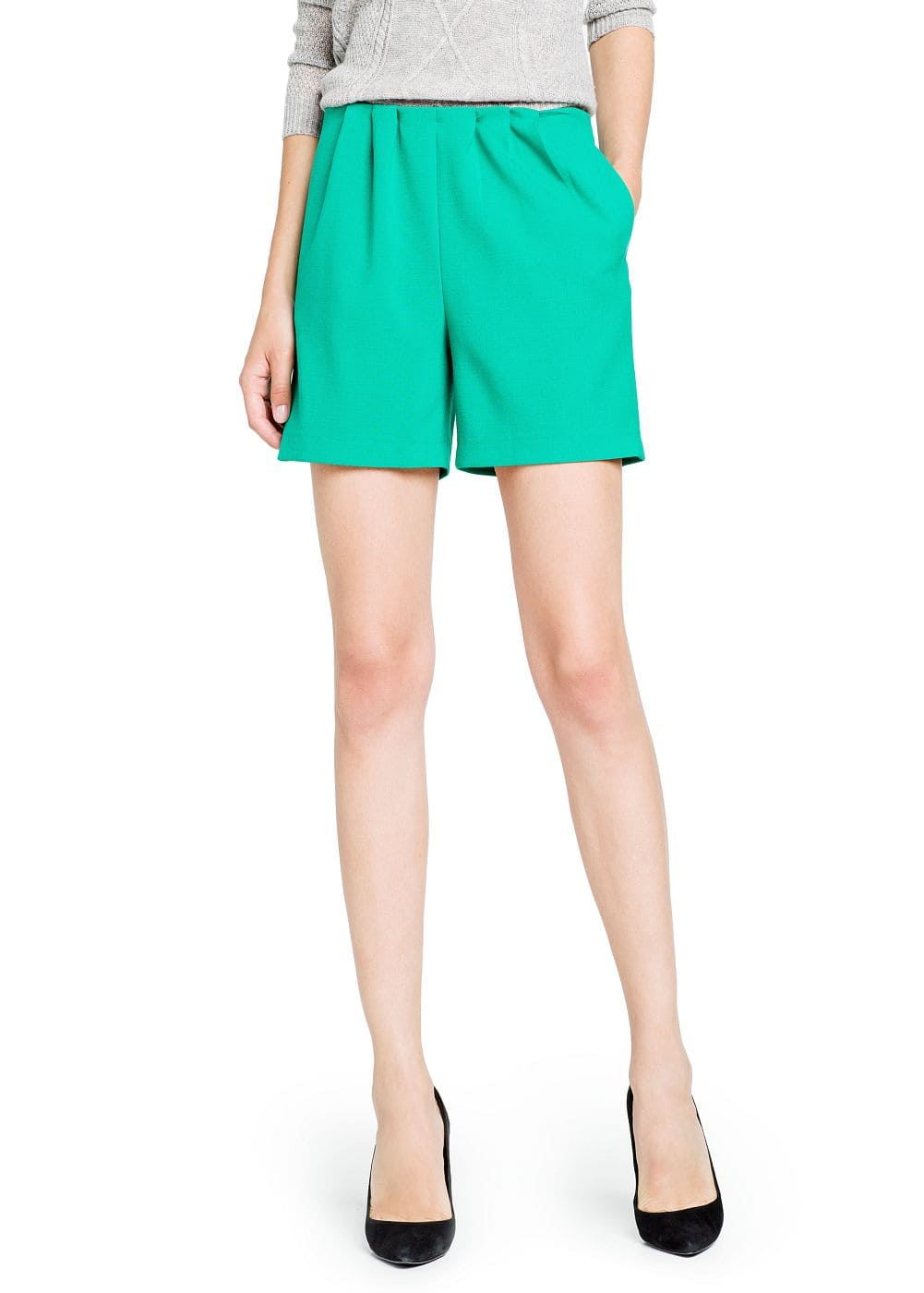 Pleated shorts | MANGO