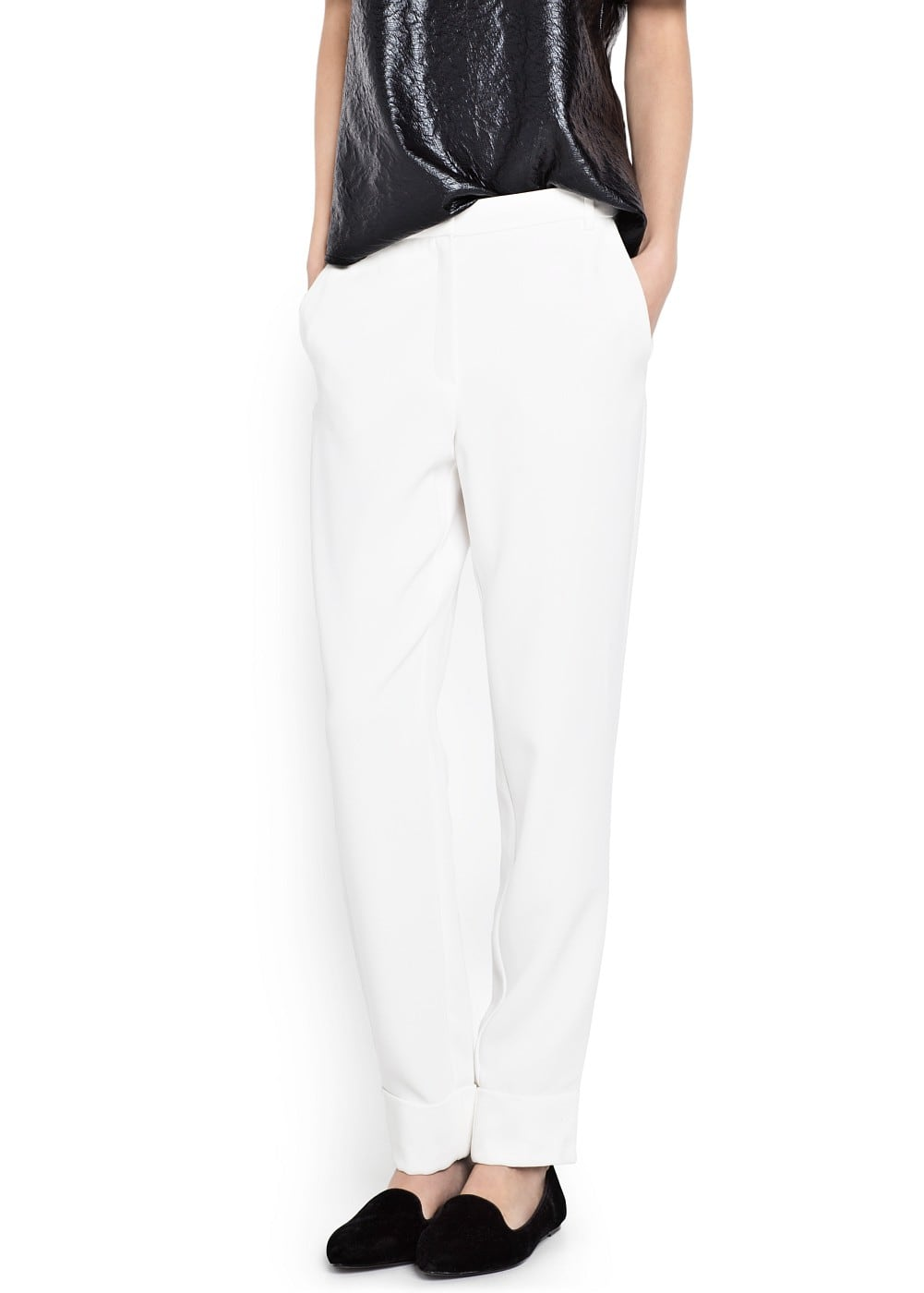 Crepé suit trousers | VIOLETA BY MANGO