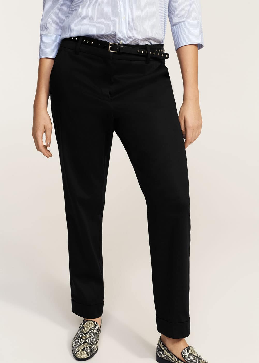 Detachable belt trousers | MANGO