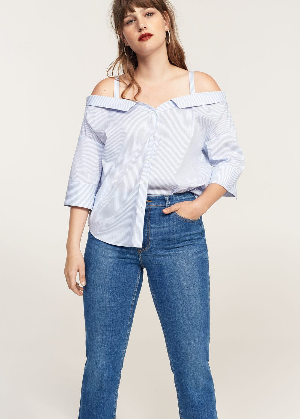 Straight-fit rossy jeans | VIOLETA BY MANGO