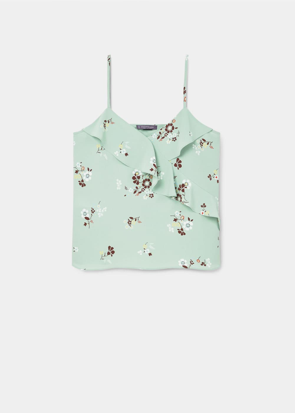 Floral print top | VIOLETA BY MANGO