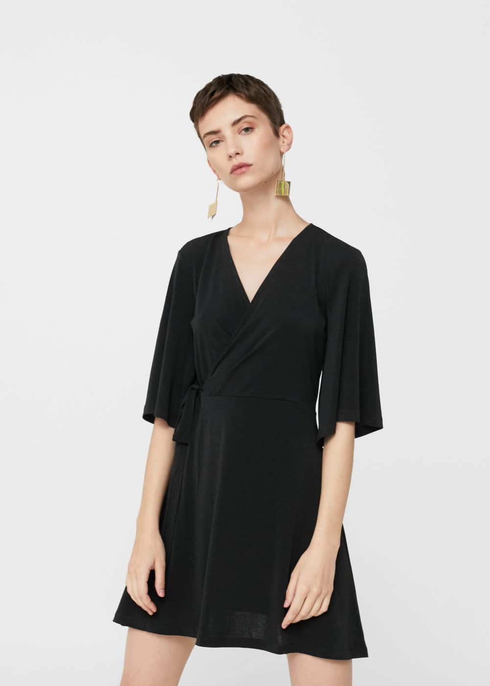 Bow wrap dress | MANGO