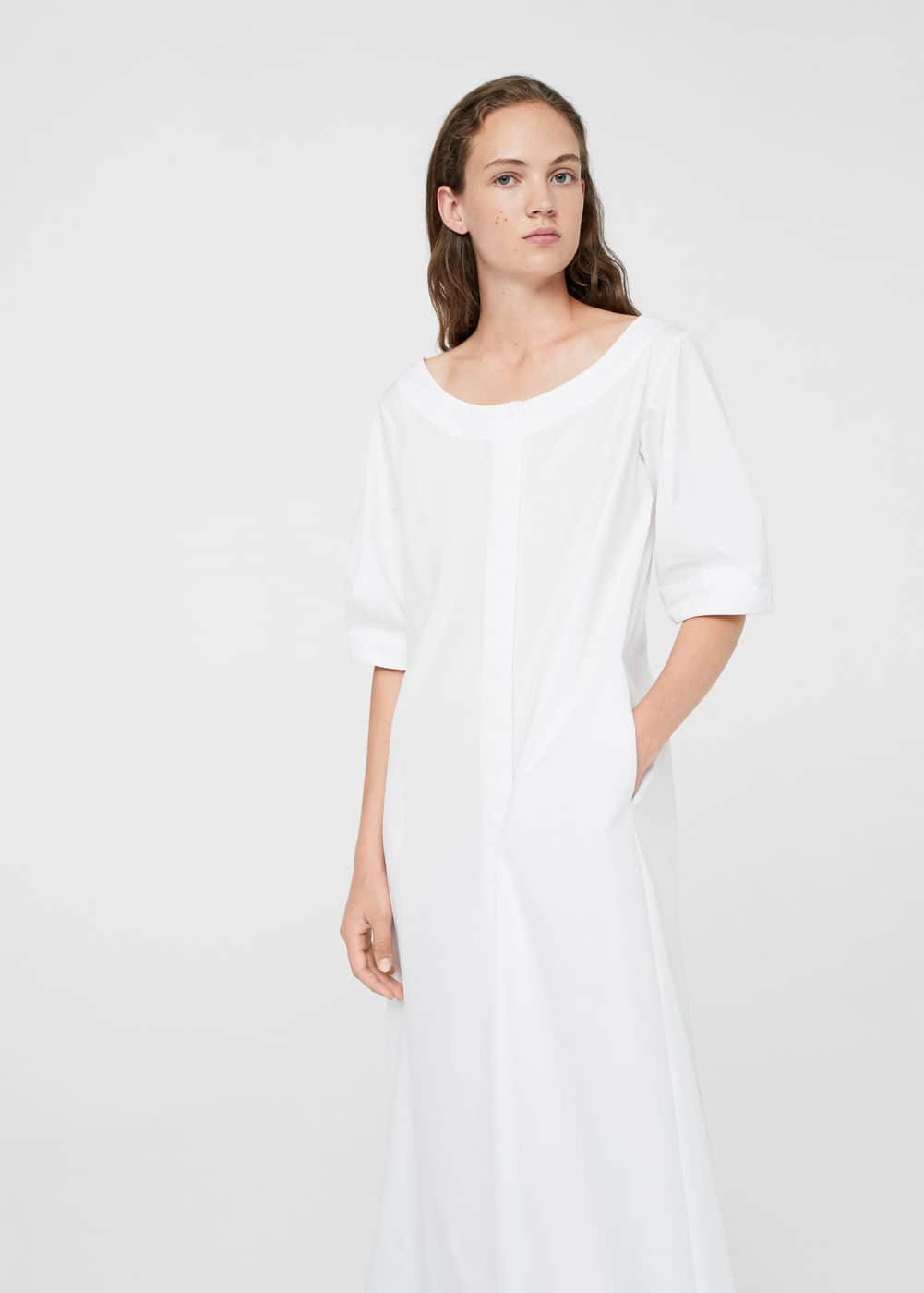Puffed sleeves dress | MANGO