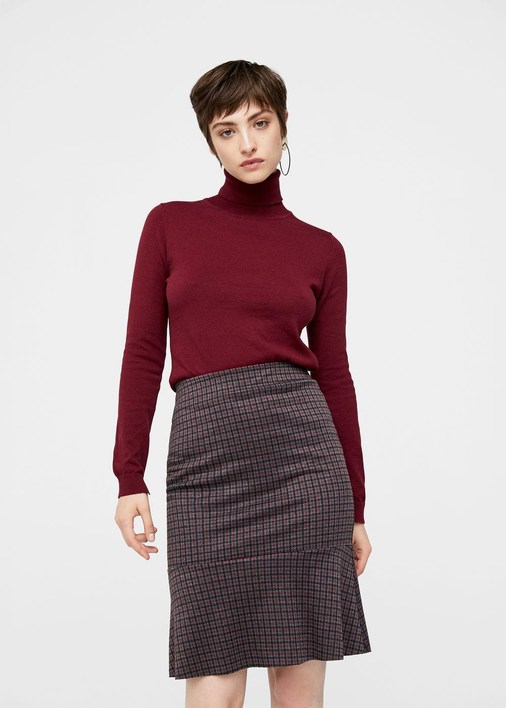 Check design skirt | MANGO