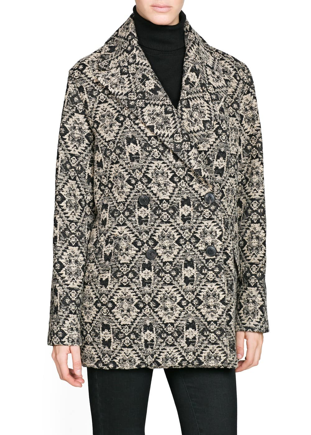 Ethnic pattern coat | MANGO