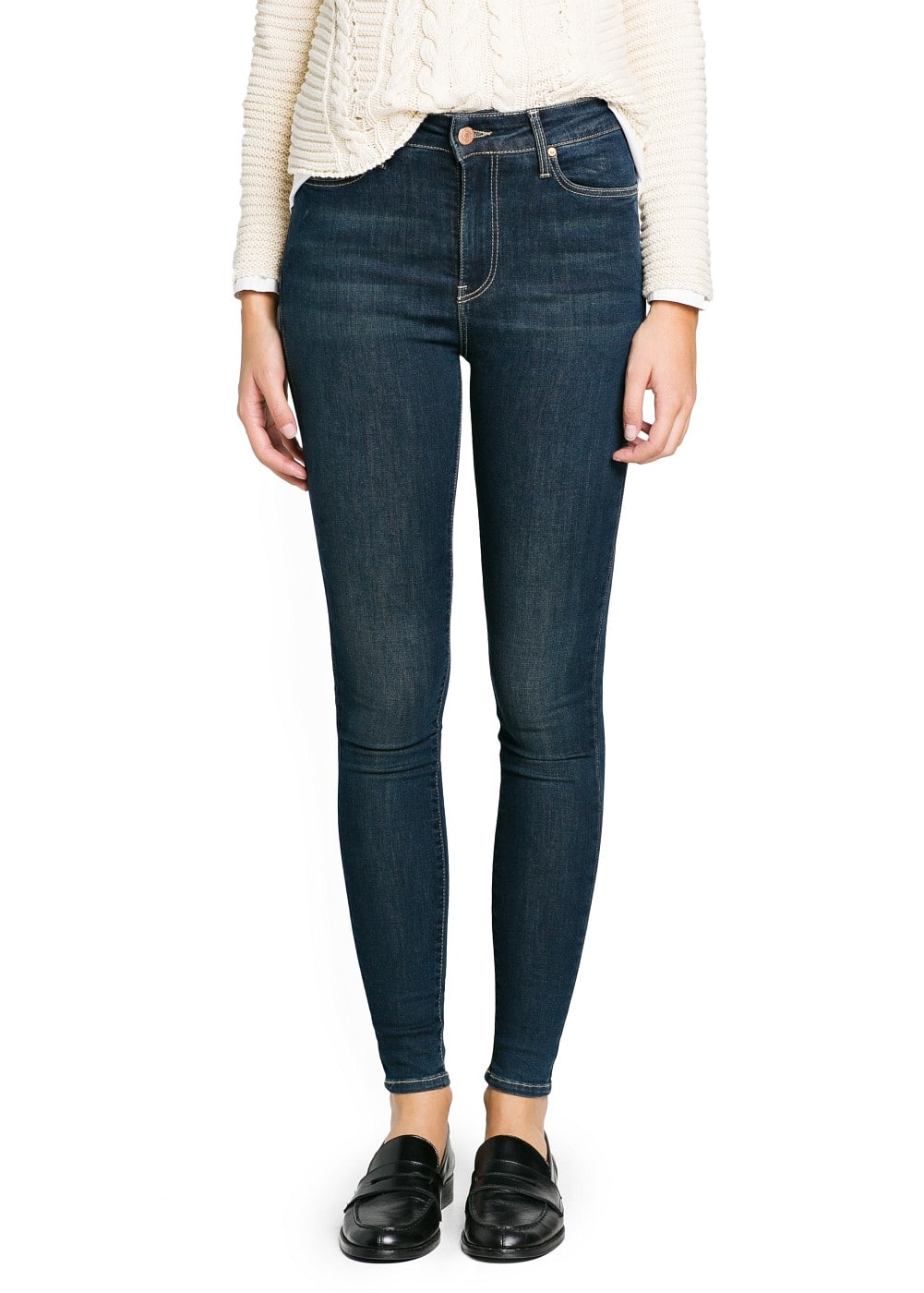 High waist broadway jeans | MANGO