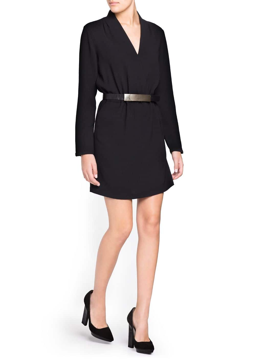 Crepe wrap dress | MANGO