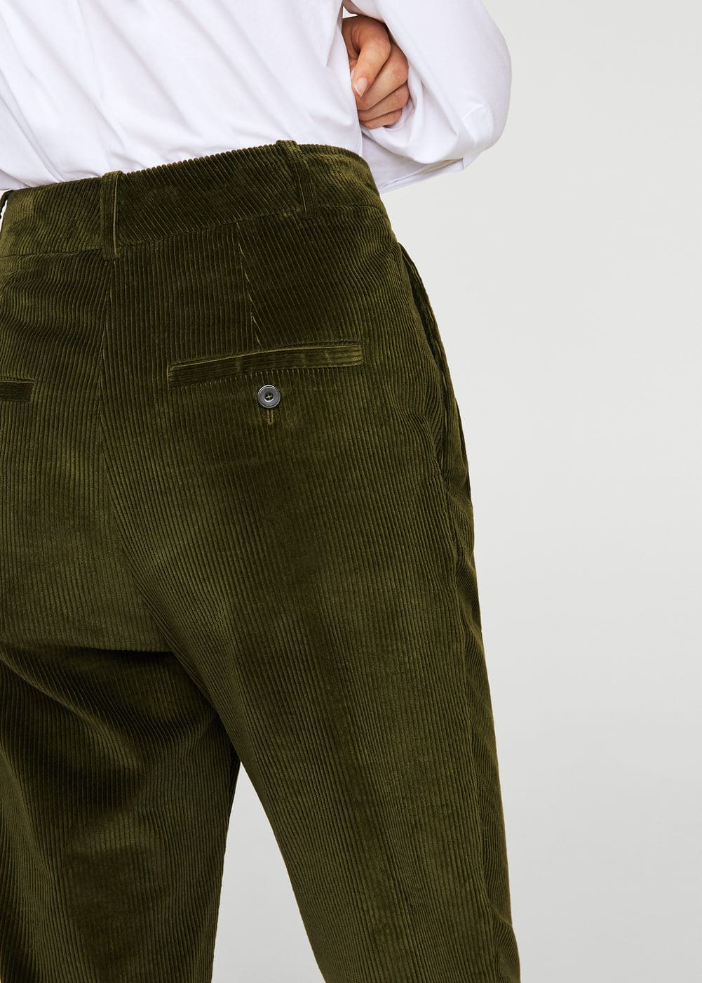 Pleated corduroy trousers | MANGO