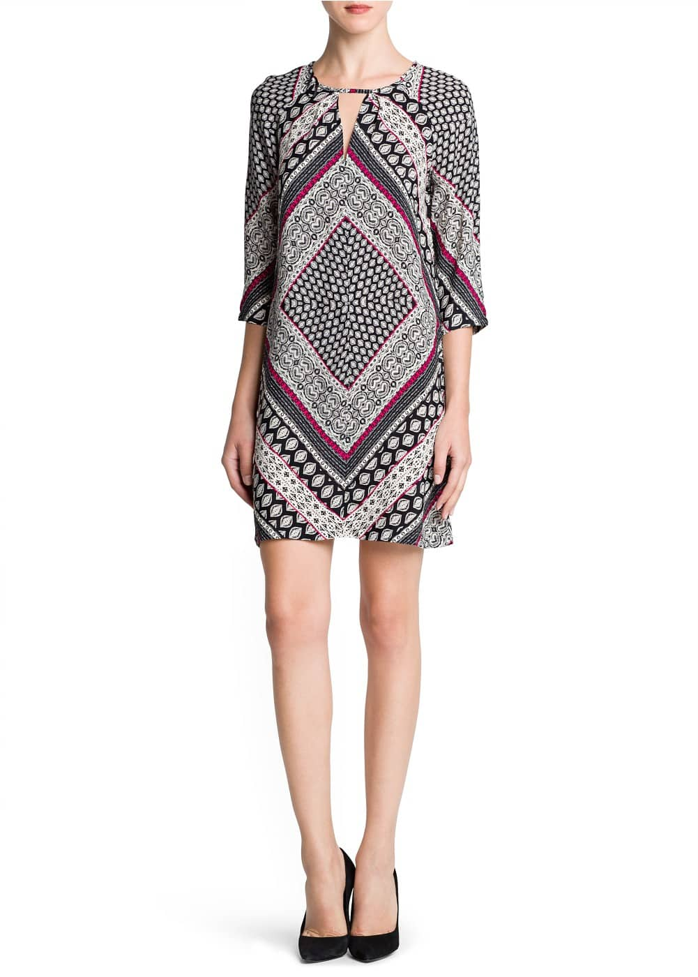 Scarf print flowy dress | MANGO