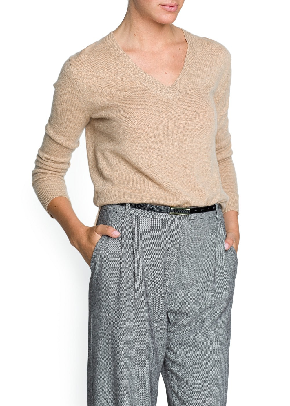 V-neck cashmere sweater - Woman | OUTLET Finland