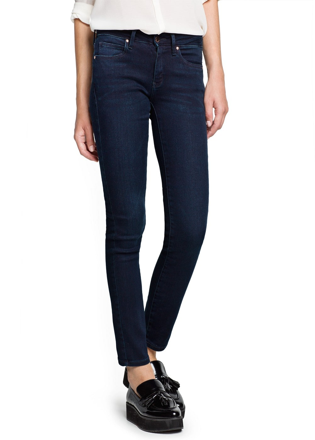 Super slim-fit dark elektra jeans | MANGO