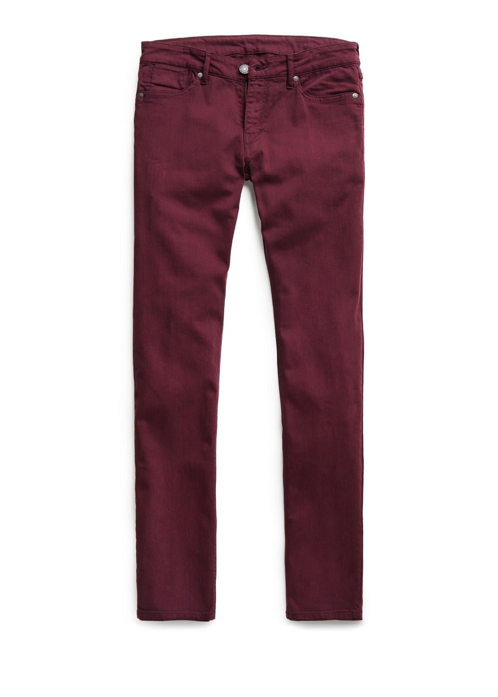 Slim-fit burgundy alex jeans | MANGO MAN