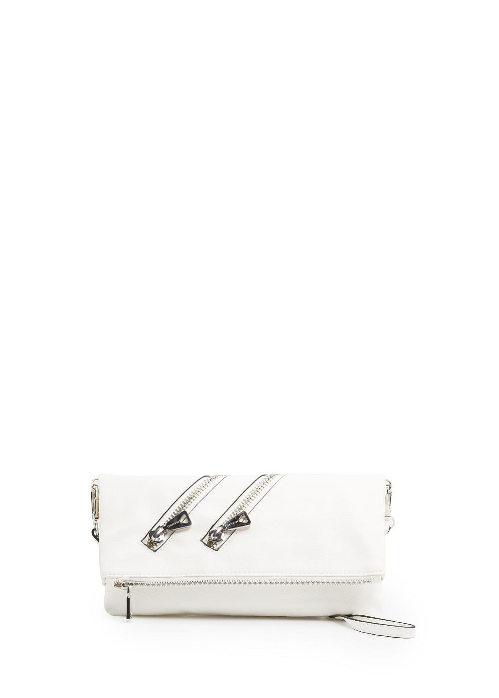 Clutch with zipper | MANGO