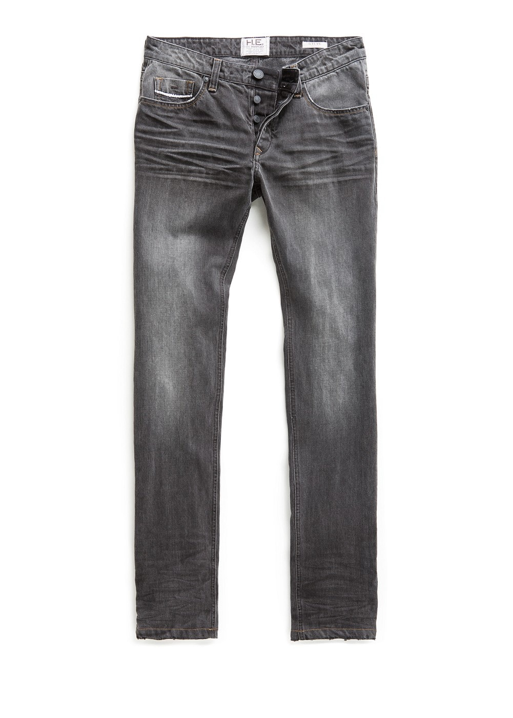 Slim-fit grey steve jeans | MANGO MAN