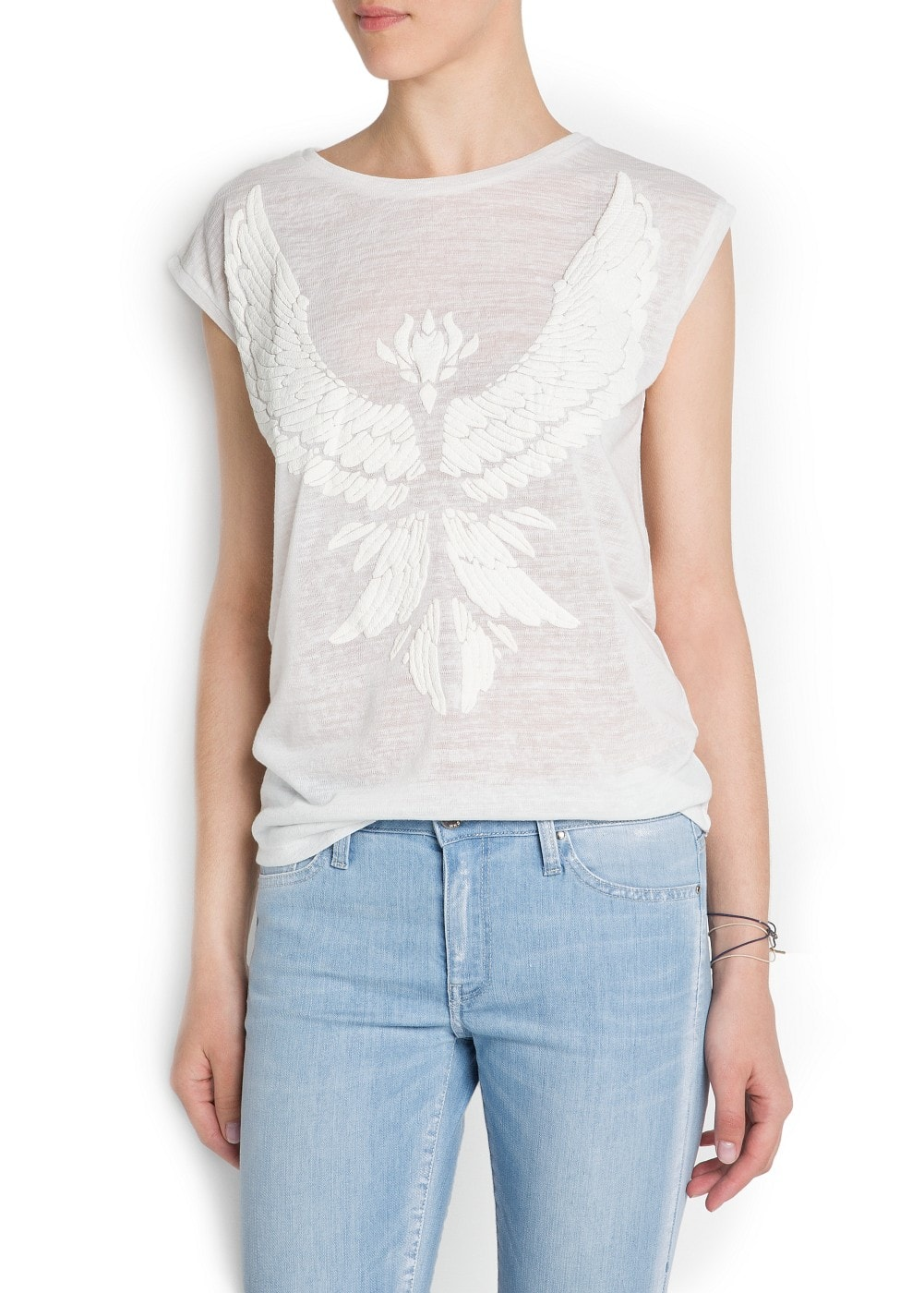 Embossed eagle t-shirt | MANGO