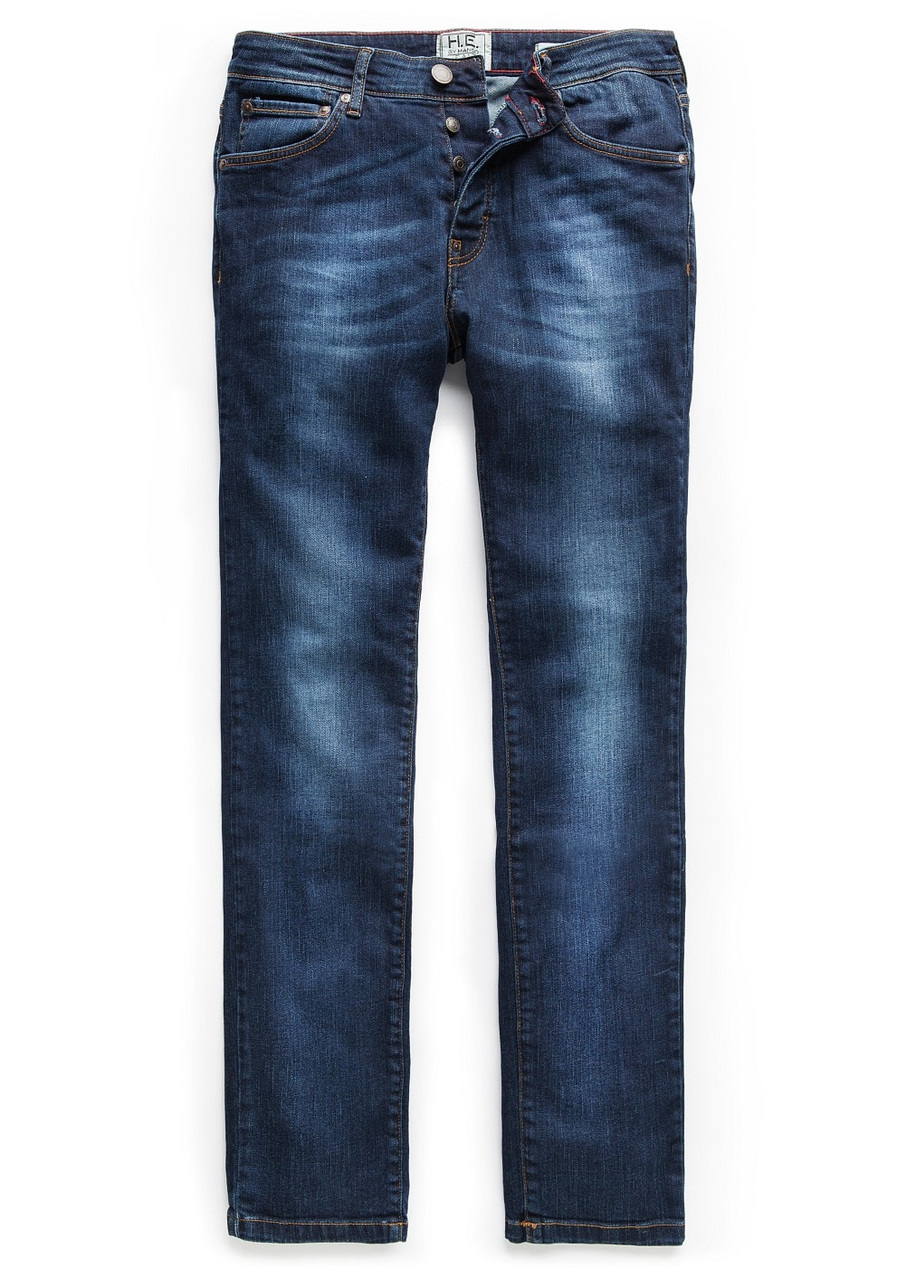 Slim-fit dark wash tim jeans | MANGO MAN