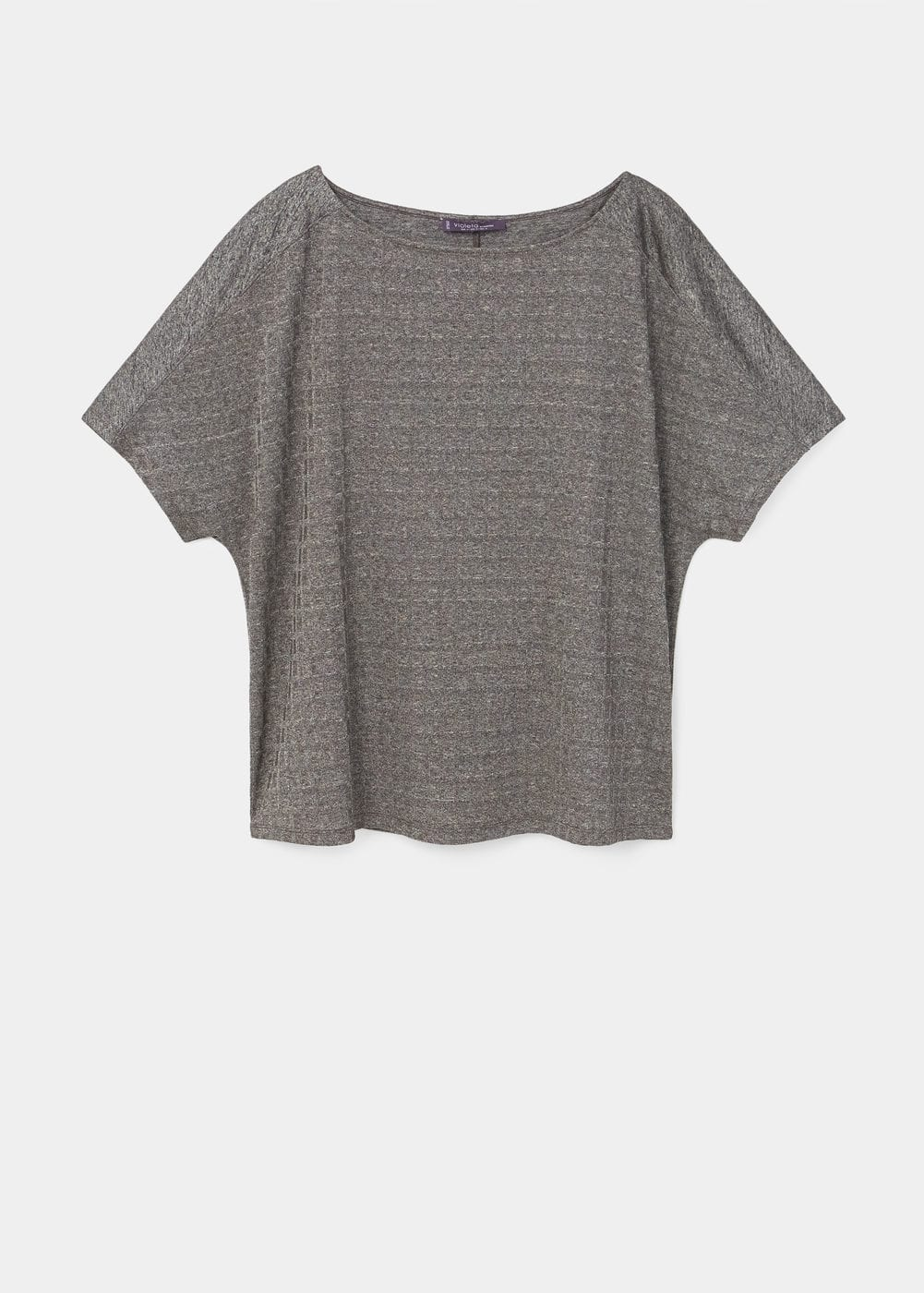 Textured flowy t-shirt | VIOLETA BY MANGO
