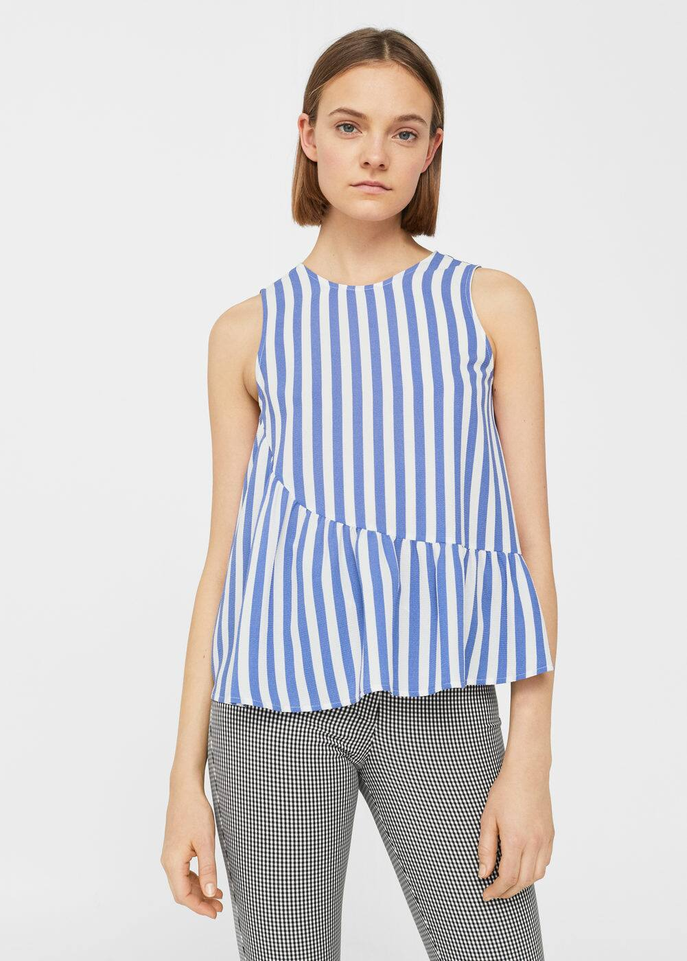 Top estampat volant | MANGO