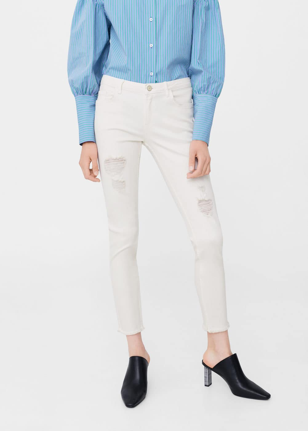 Ripped details slim-fit jeans | MNG