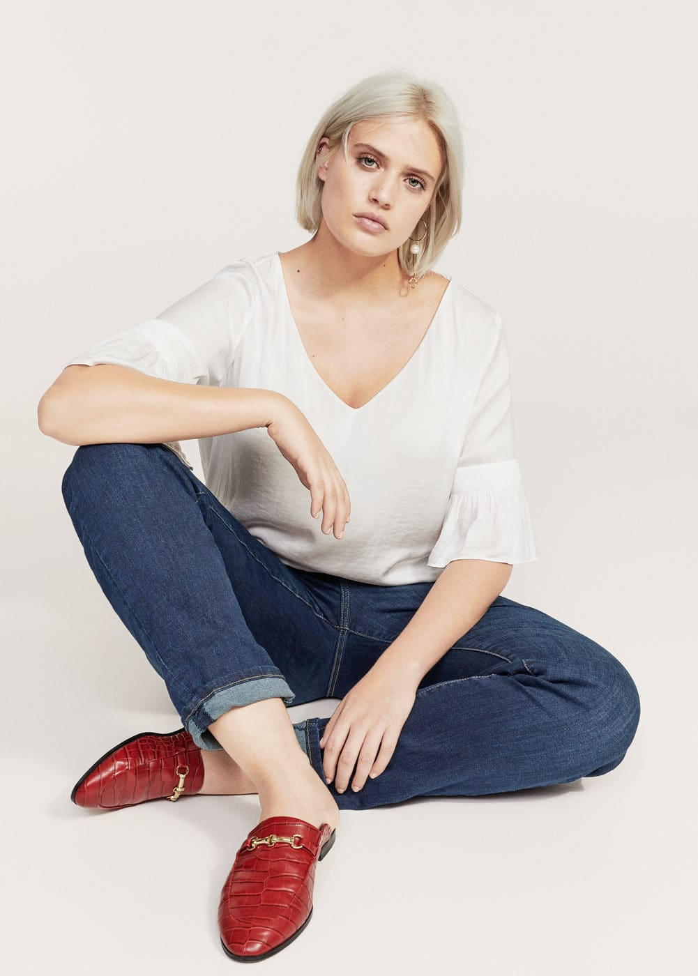 Relaxed ely jeans | VIOLETA BY MANGO