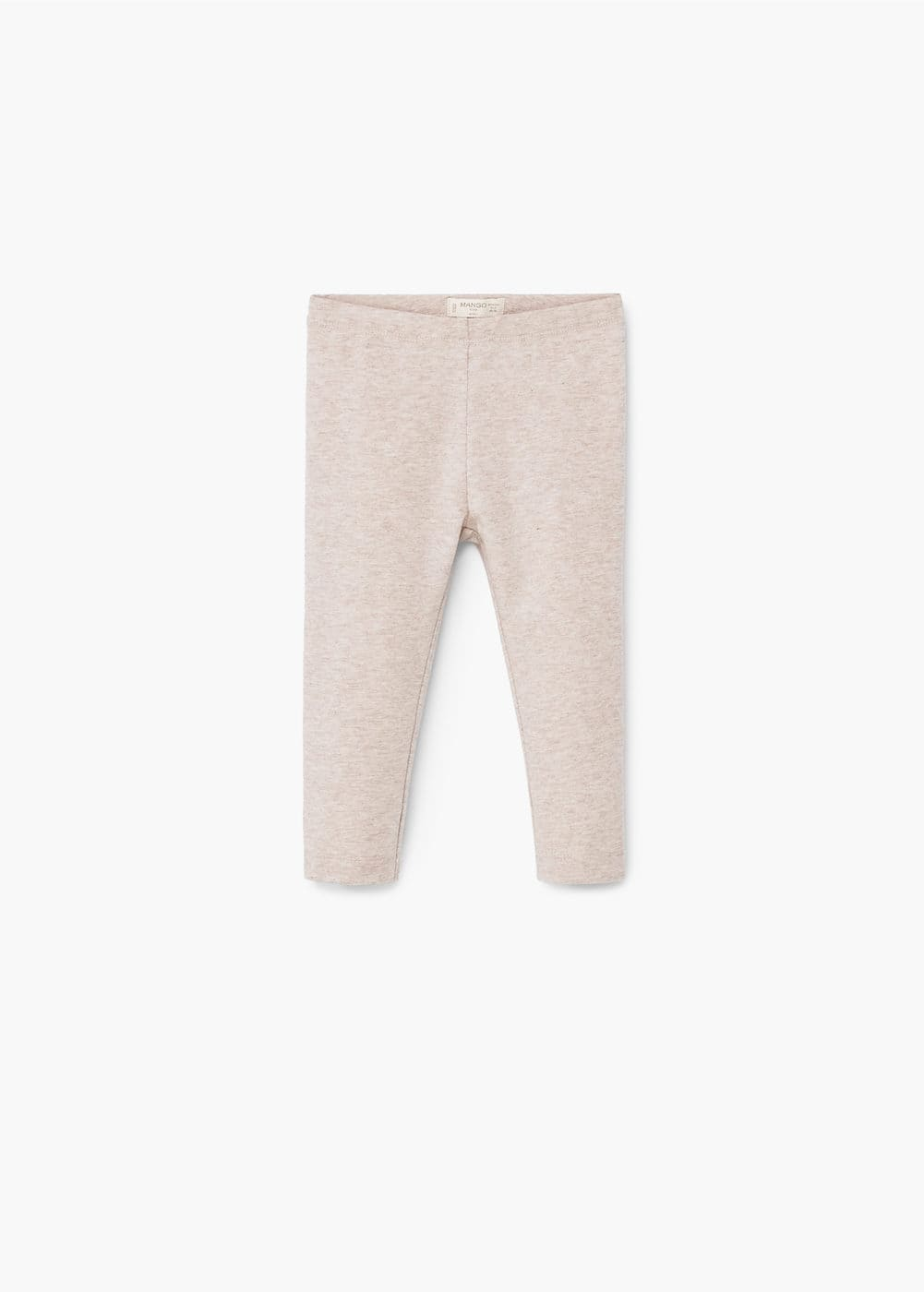 Flecked cotton leggings | MANGO