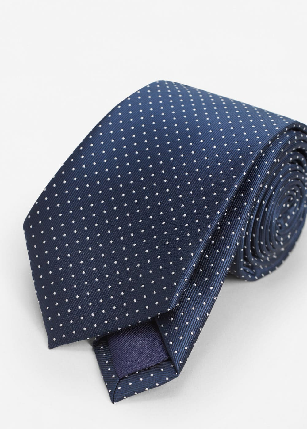 Polka-dot patterned tie | MANGO MAN