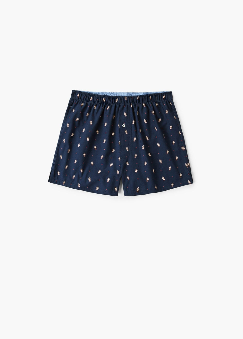 Space printed cotton boxer shorts | MANGO