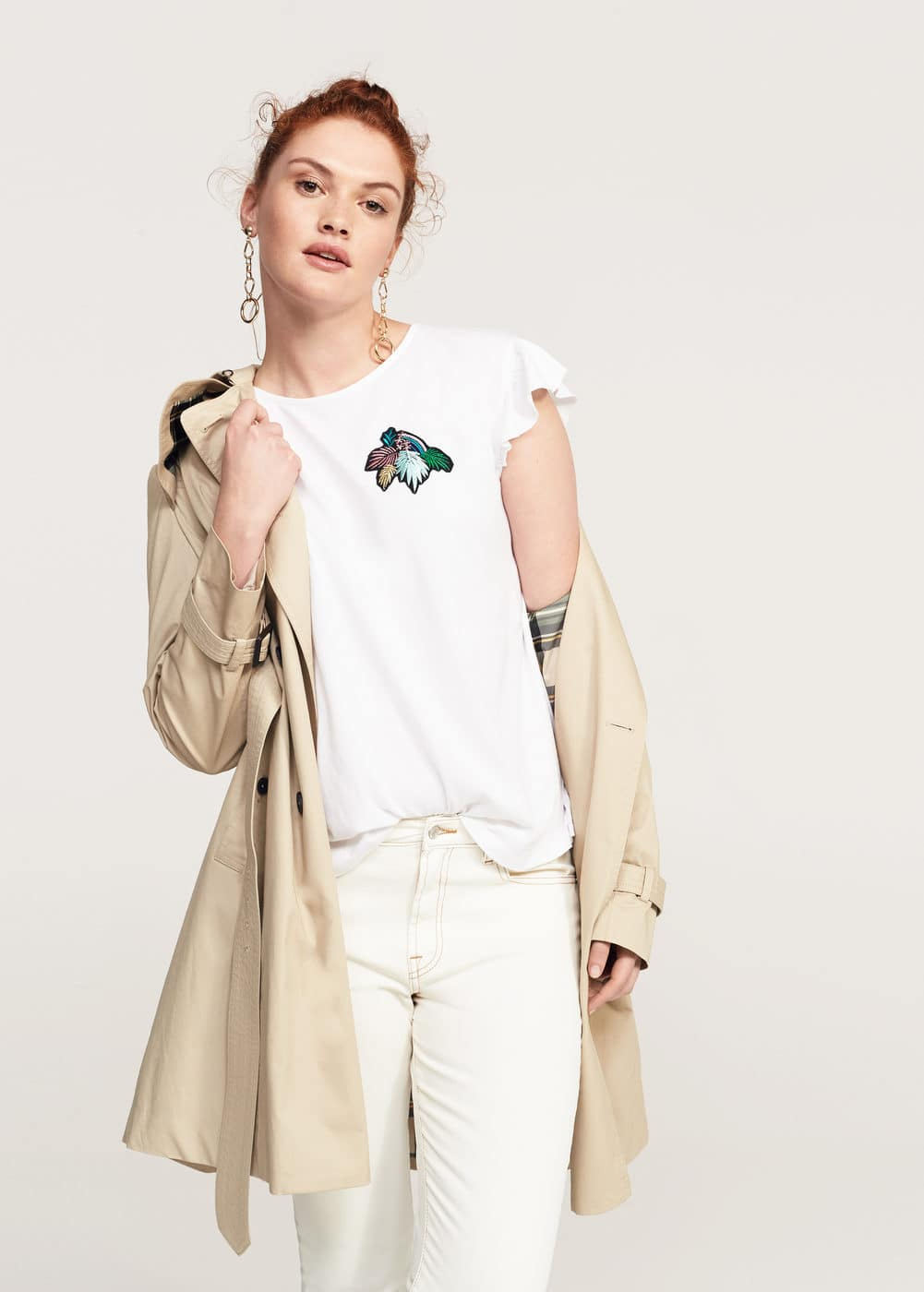 Patch t-shirt | VIOLETA BY MANGO