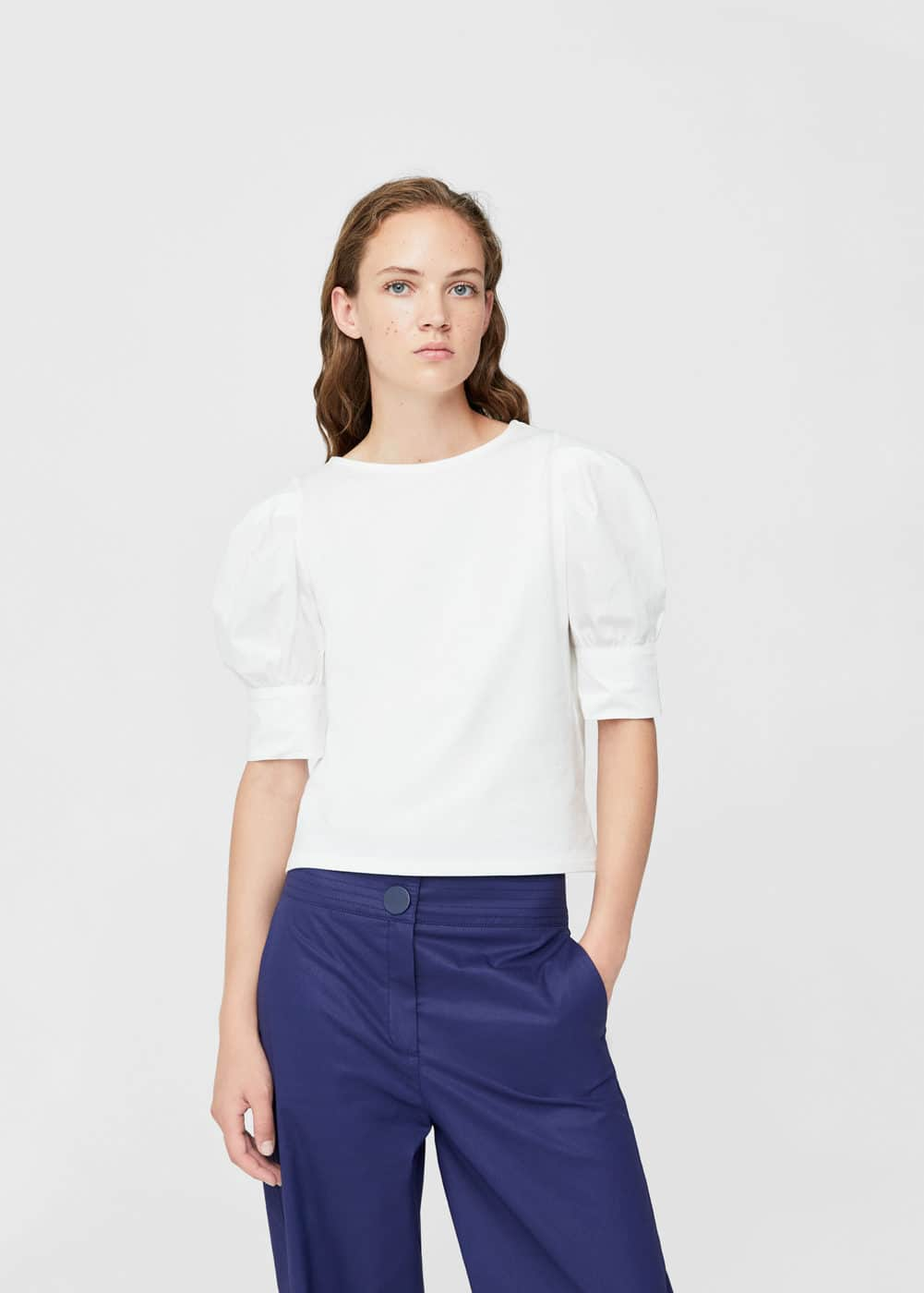 Puffed sleeves t-shirt | MANGO