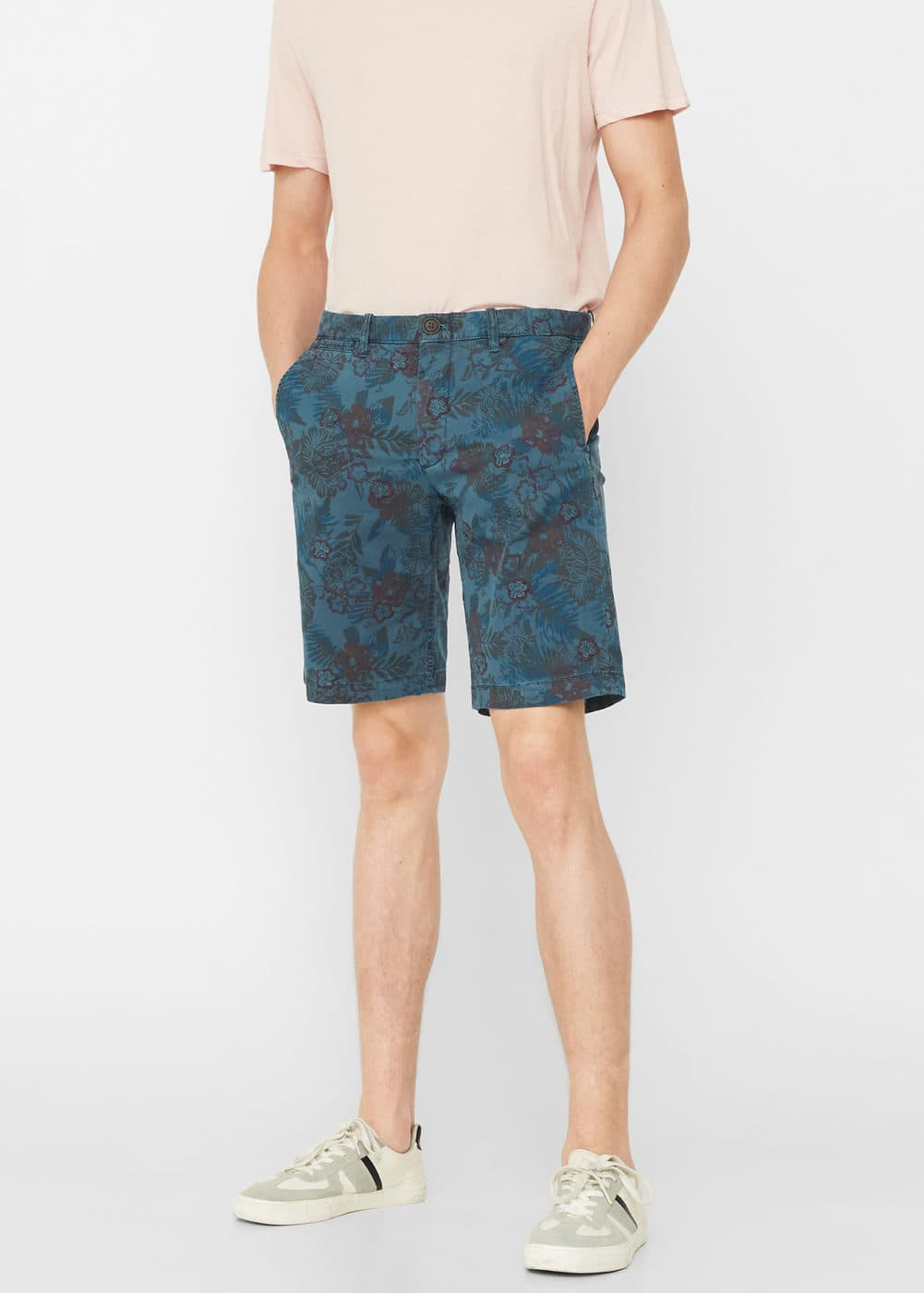Printed 5 pocket bermuda shorts | MANGO MAN