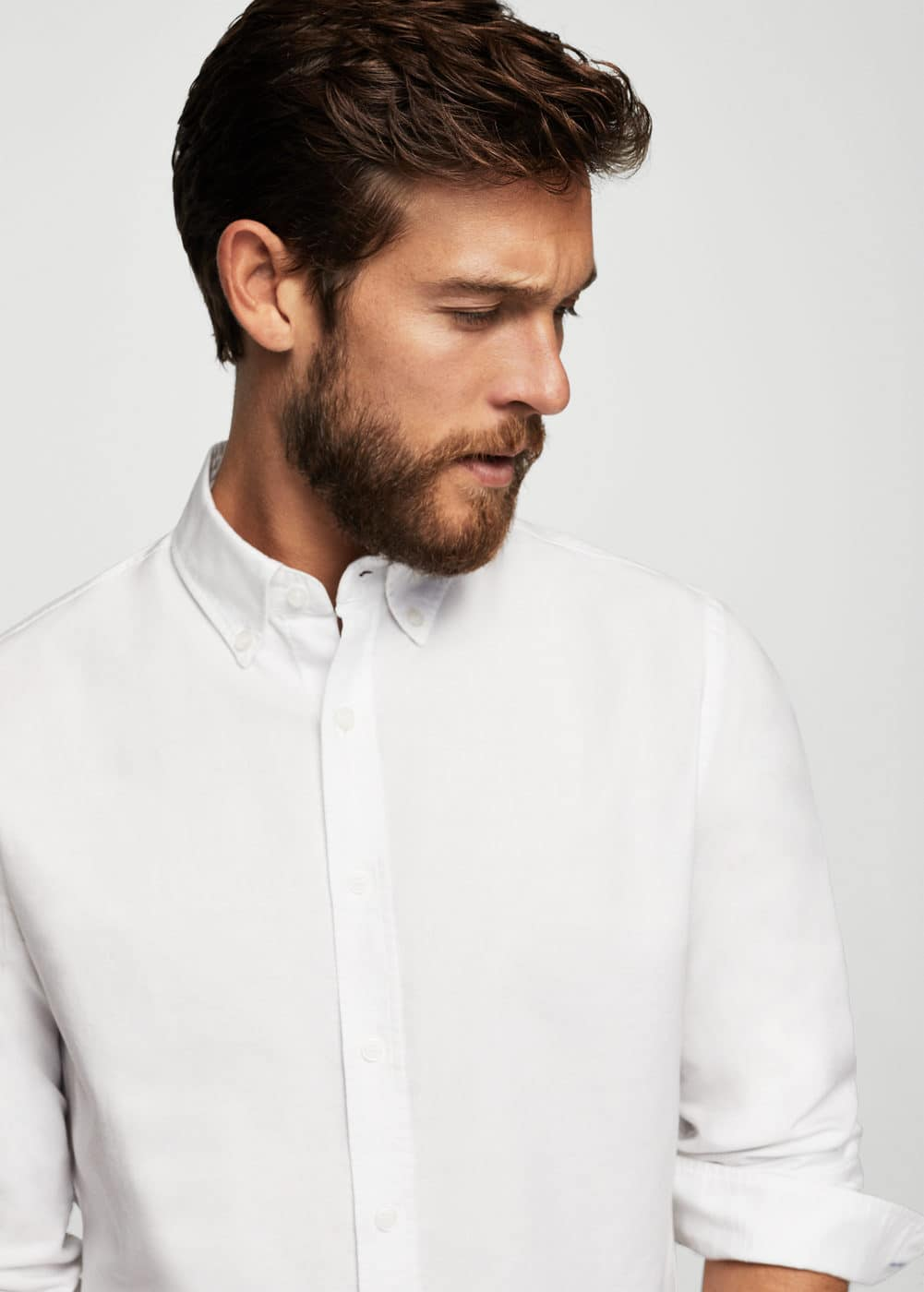 Camisa slim-fit algodón oxford | MNG