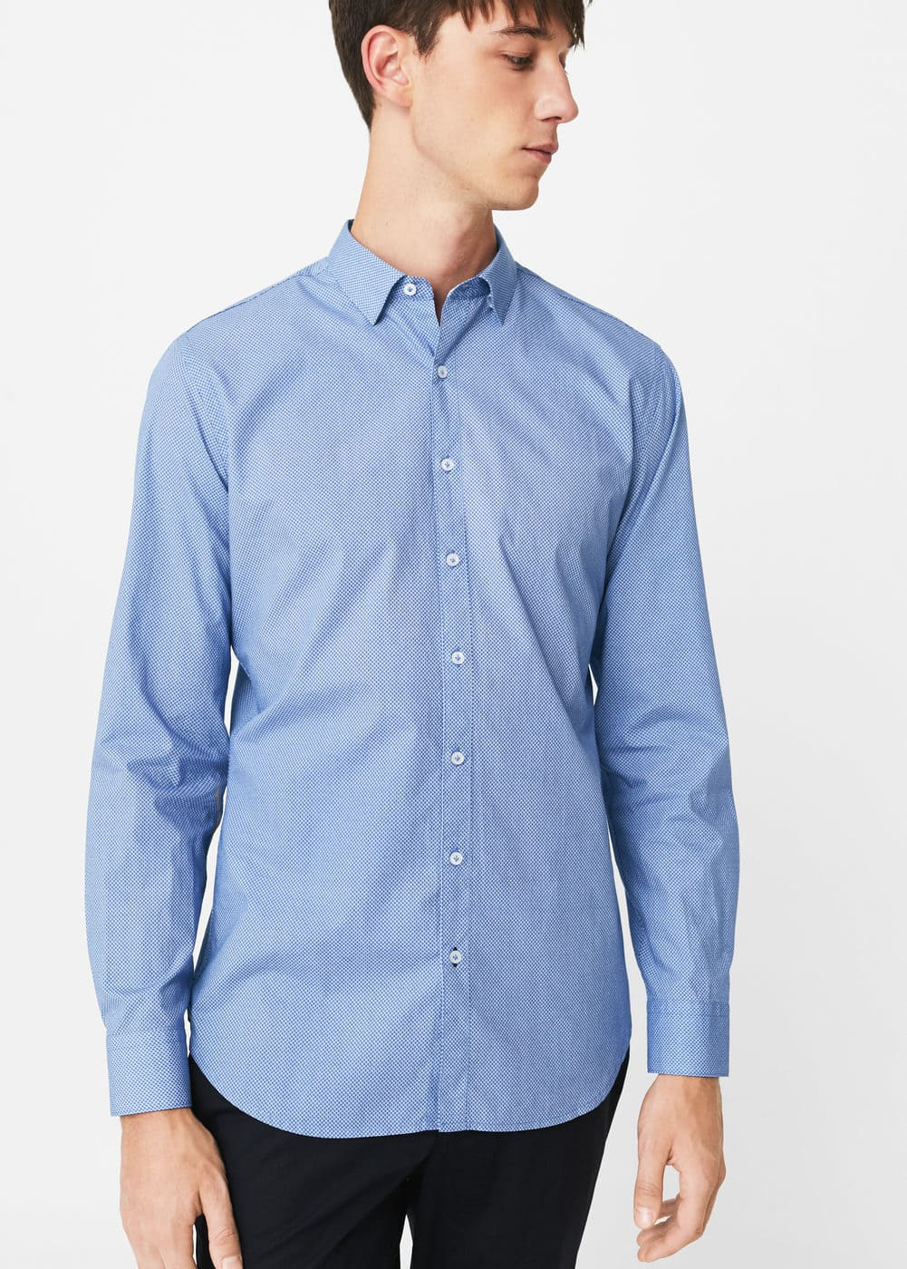 Camisa slim-fit micro estampado | MANGO MAN