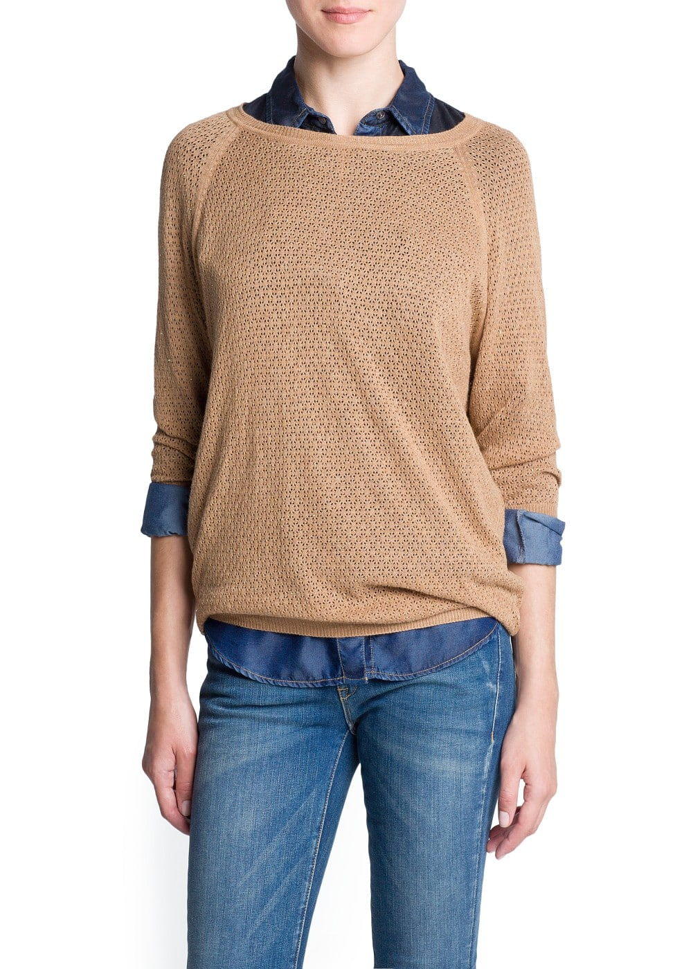Fantasy open knit sweater | MANGO