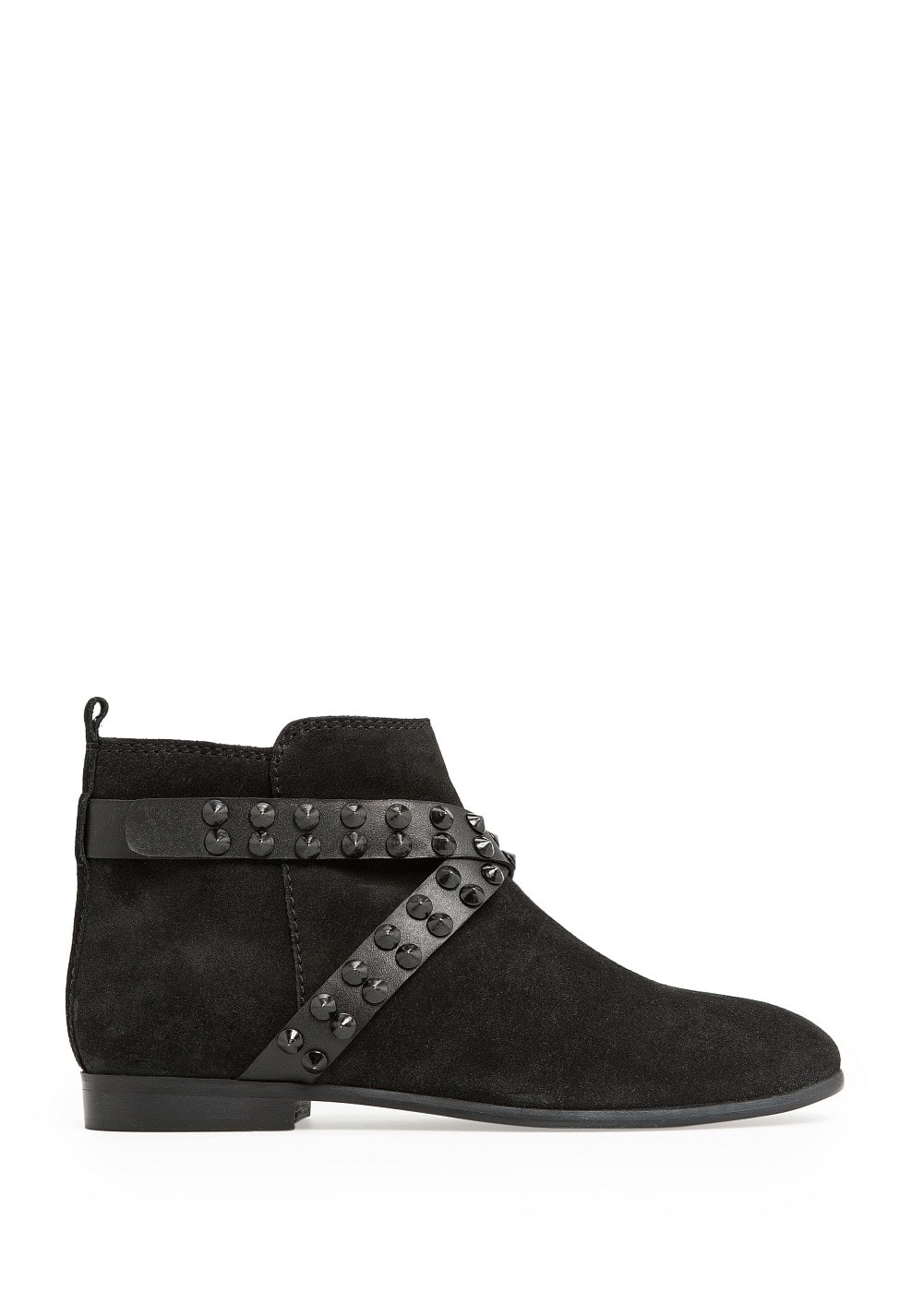 Studded suede ankle boots | MANGO