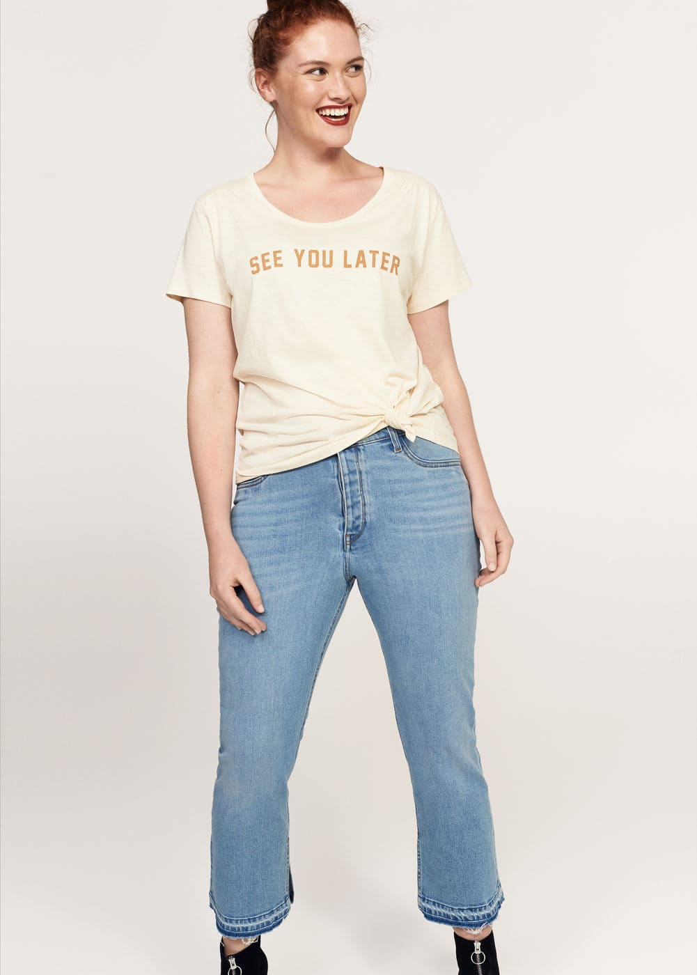 T-shirt coton message | MANGO