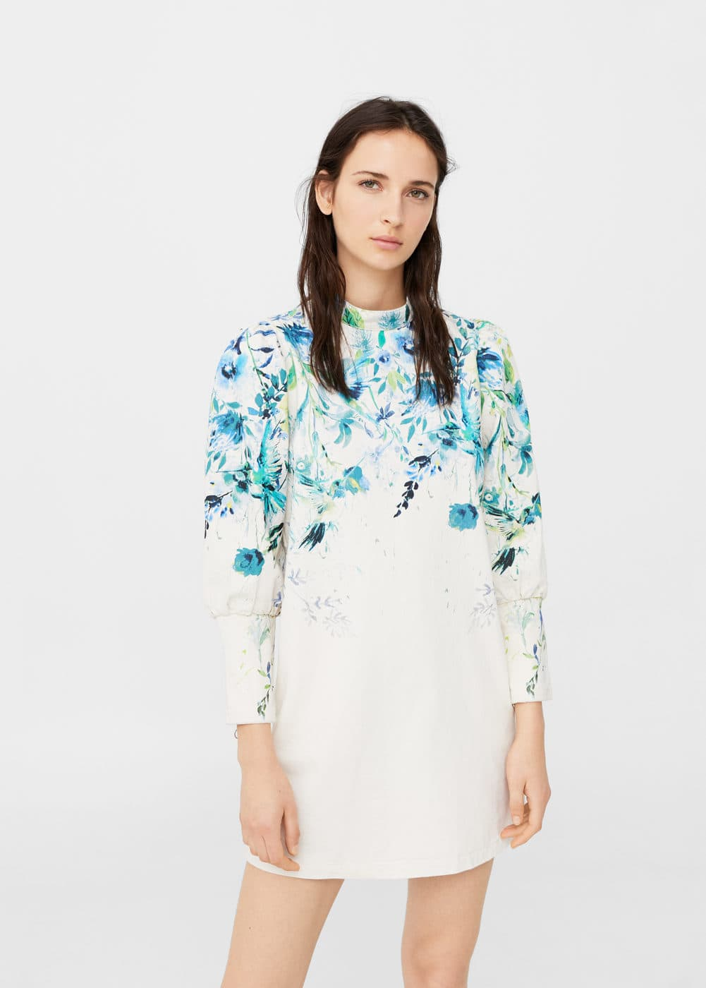 Floral printed denim dress | MANGO