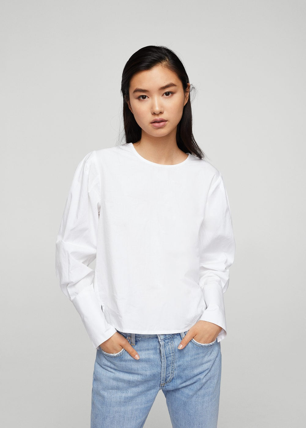 Pearl button shirt | MANGO