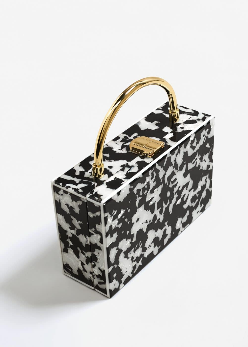 Bicolor box bag | MANGO