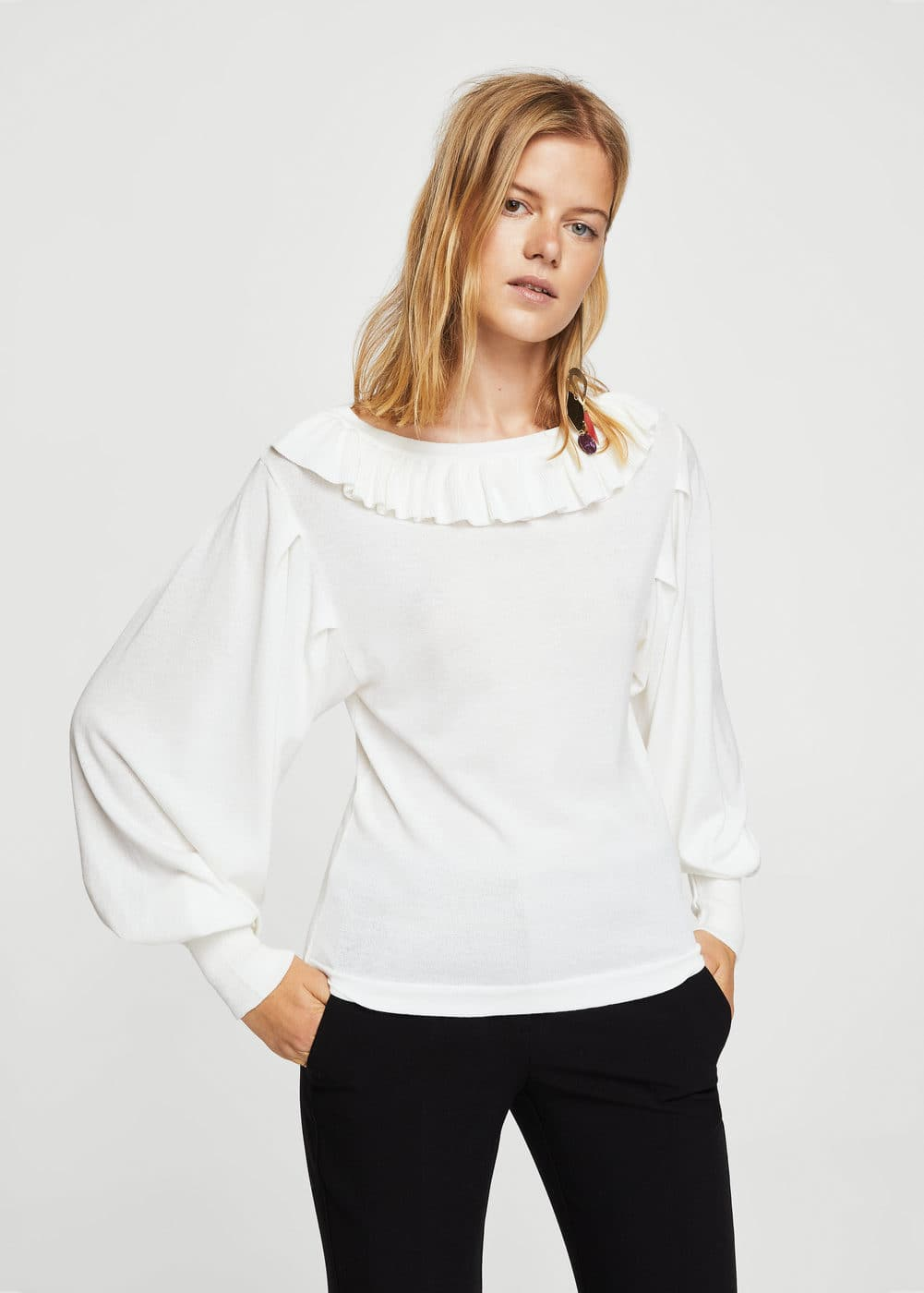 Pull-over manches bouffantes | MANGO