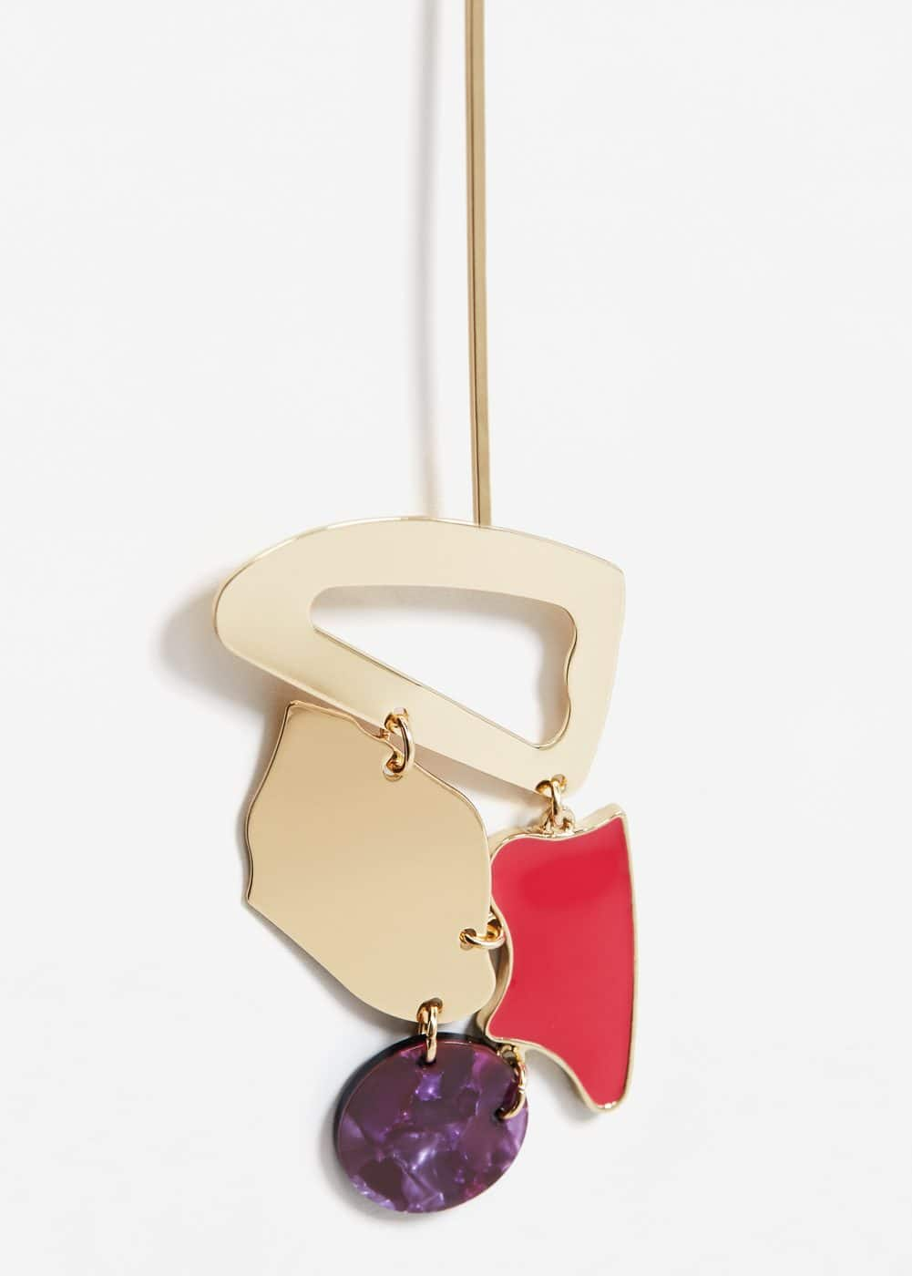Chain geometric earring | MANGO