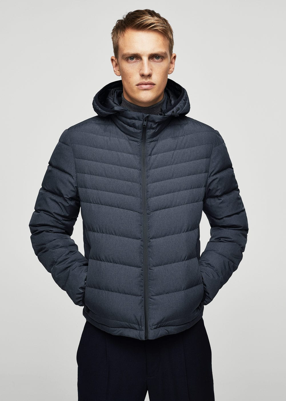 Quilted down anorak | MANGO MAN