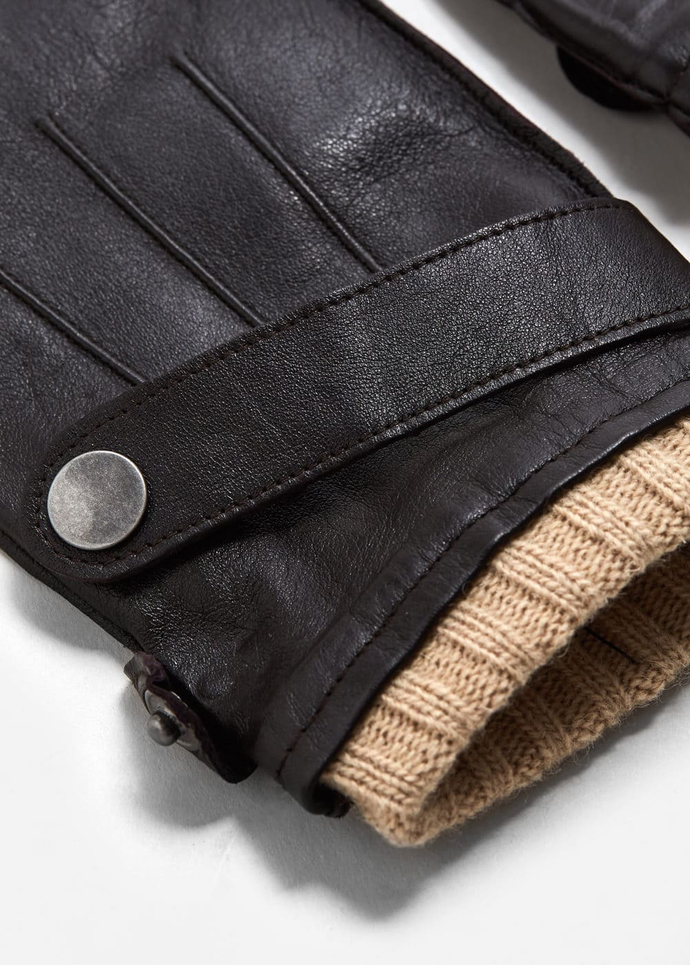 Wool-lining leather gloves | MANGO