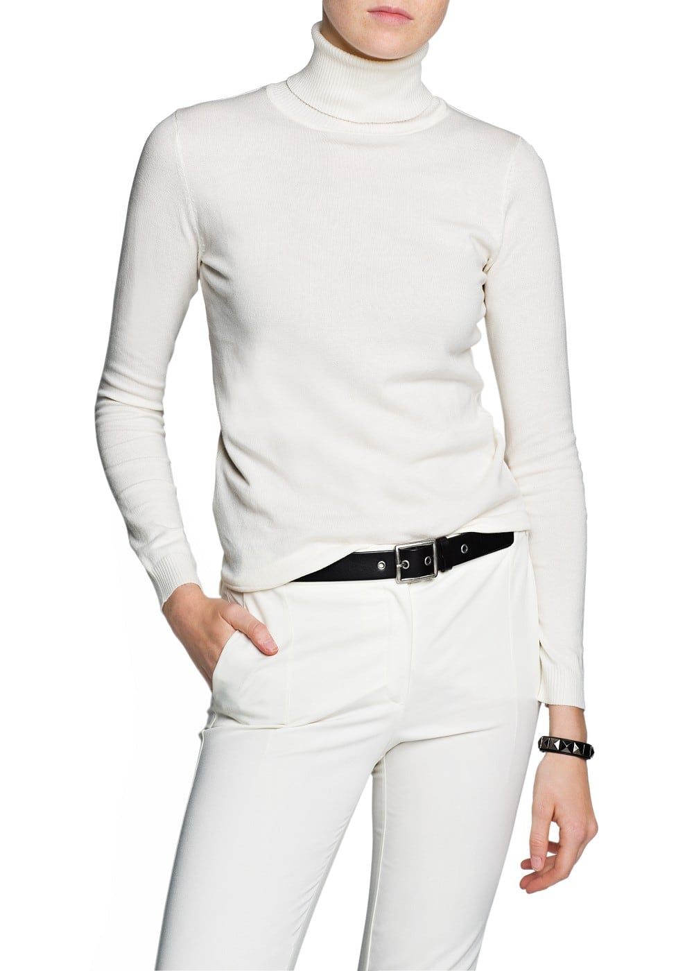 Turtleneck cotton-blend sweater | MANGO
