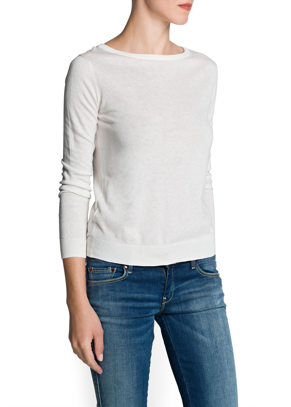 Bow button back sweater | MANGO